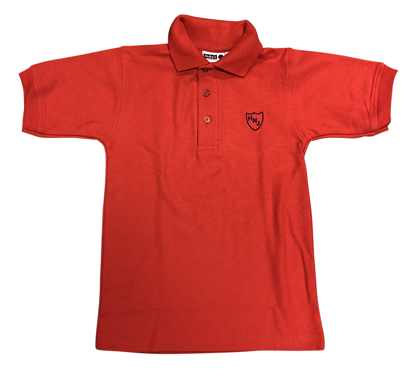 HNJ Short Sleeve Pique Knit - Red