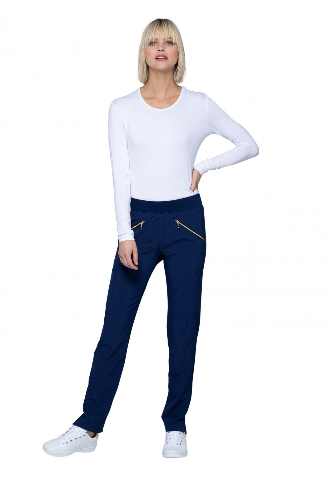 HS065 Mid Rise Pull-on Pant - Navy