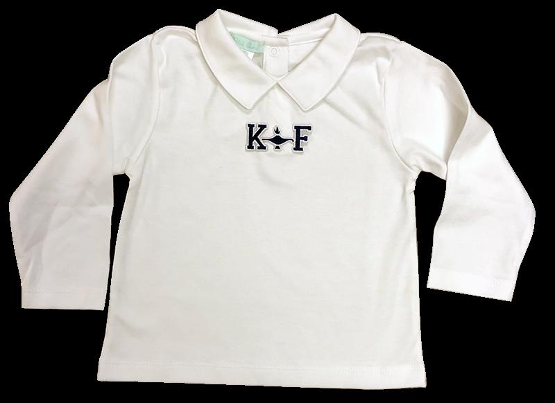 Kehoe-France Petite Ami Boys Long Sleeve Knit - White
