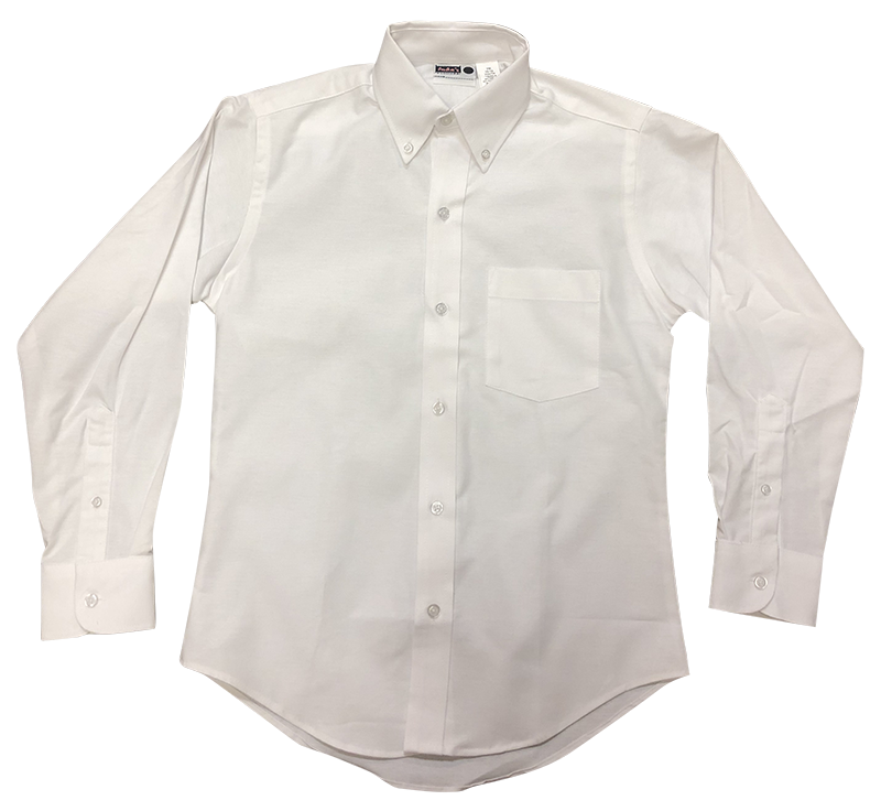 Girls Long Sleeve Oxford - White