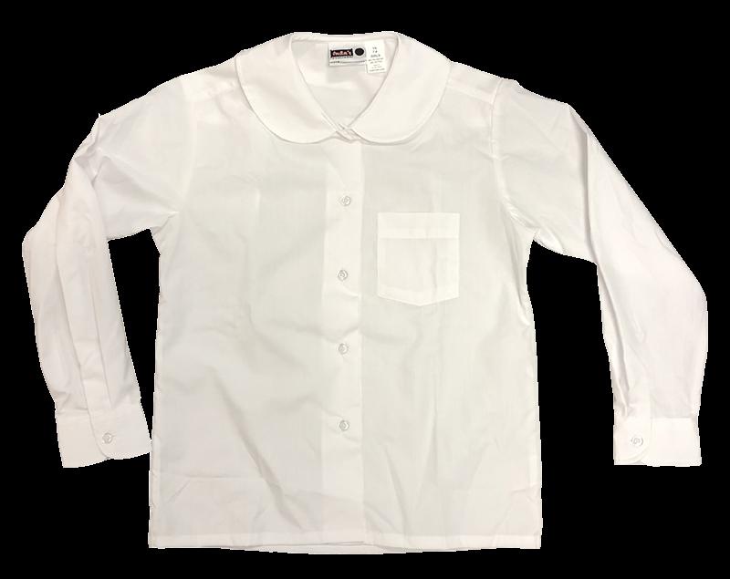 Blouse - Peter Pan Collar L/S - White