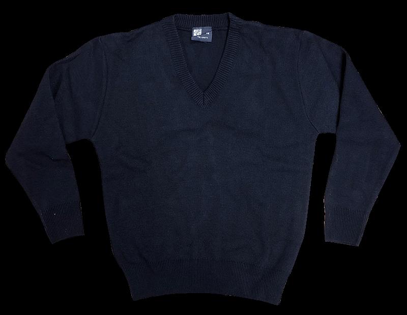 V-Neck Sweater - Navy