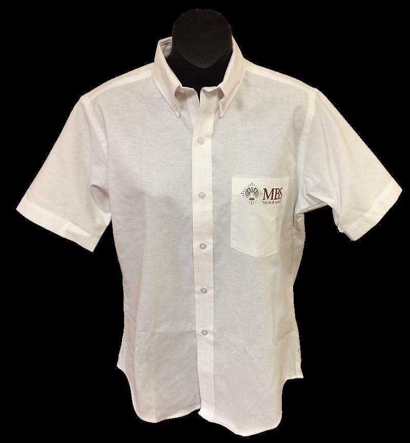 MBS Short Sleeve Ladies Oxford - White