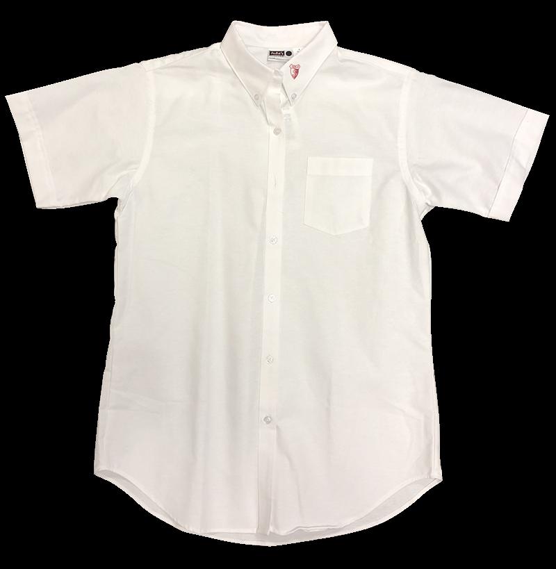 SJA Ladies Oxford - Short Sleeve - White