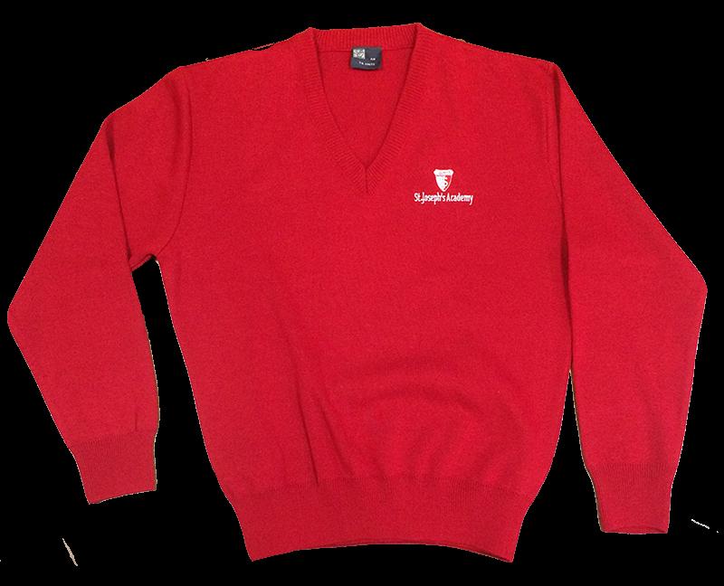 SJA V-Neck Sweater - Red