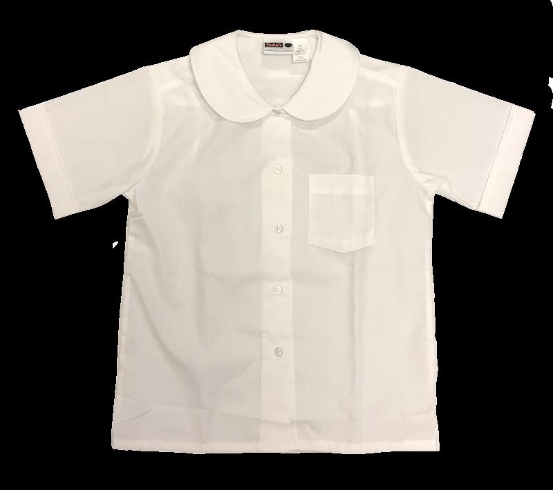 Blouse - Peter Pan Collar S/S - White
