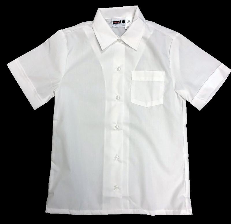 Blouse - S/S Sports Collar - White