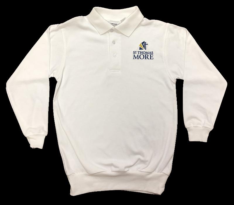 STM Jersey Banded Bottom Long Sleeve - White