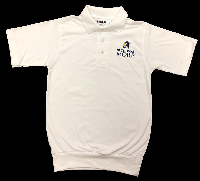 STM Short Sleeve Banded Bottom Jersey Knit: White