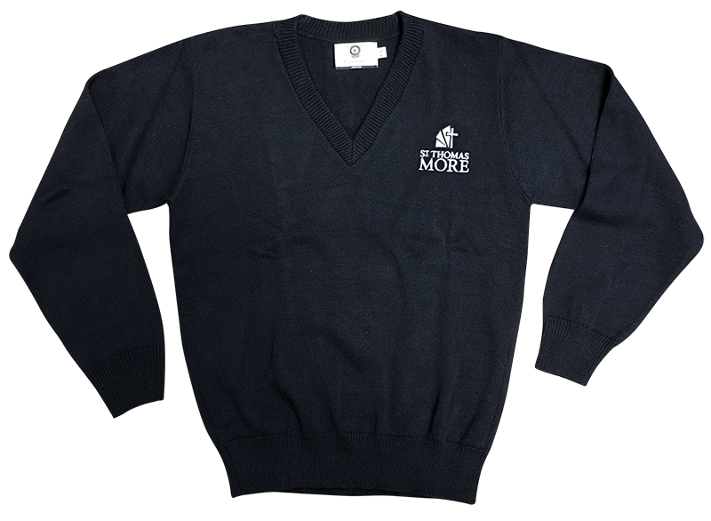 STM V-Neck Sweater - Navy