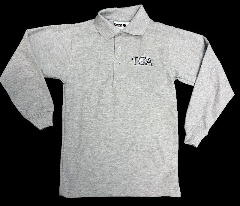 TCA Long Sleeve Pique Knit - Grey