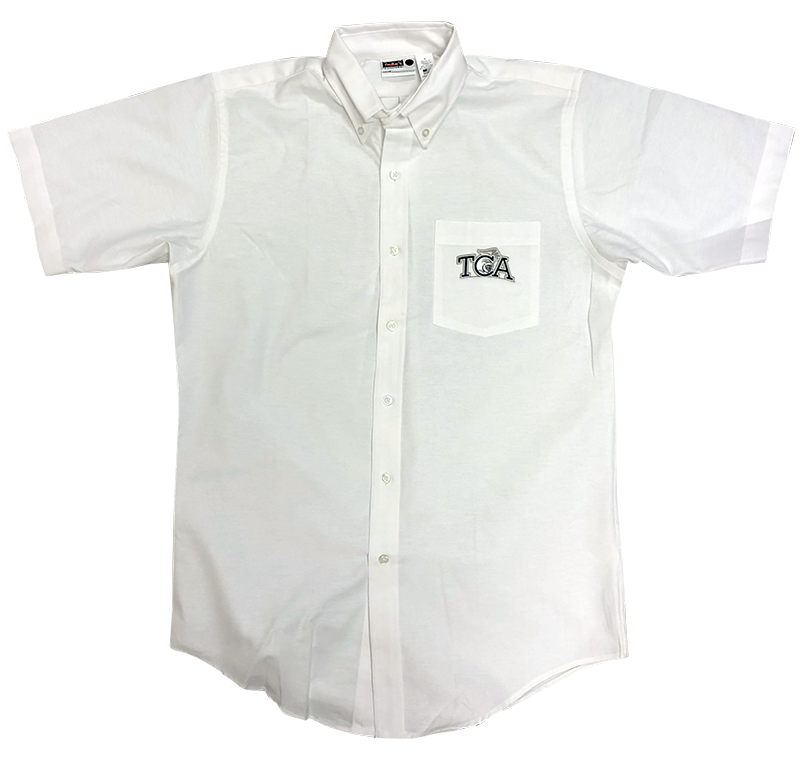 TCA  Boys Oxford - Short Sleeve - White