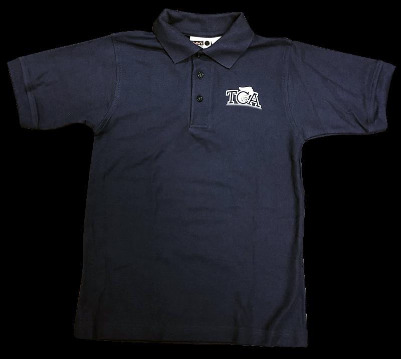 TCA Short Sleeve Pique Knit - Navy