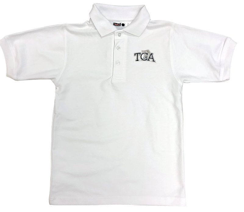 TCA Short Sleeve Pique Knit - White