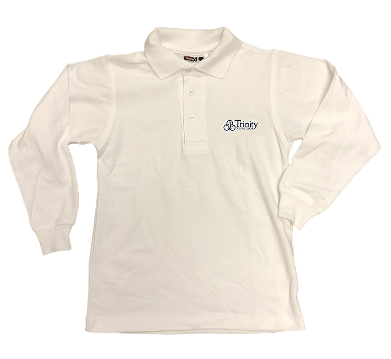 Trinity  Long Sleeve Pique Knit - White