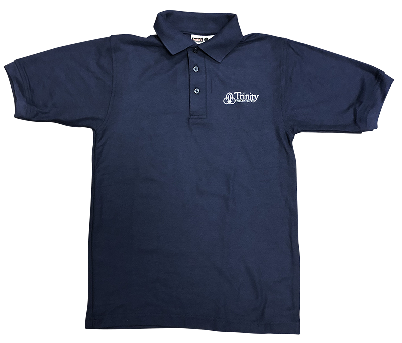 Trinity Short Sleeve Pique Knit - Navy