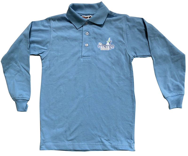 TES Long Sleeve Jersey Knit - Light Blue