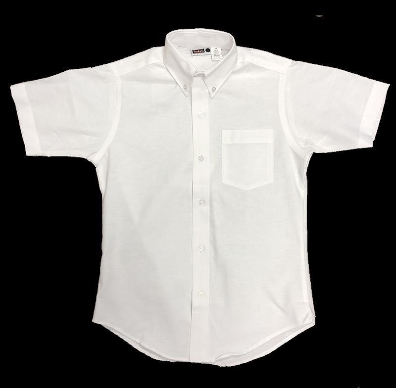 Girls Short Sleeve Oxford - White