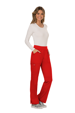 WW110 Mid Rise Pull-on Cargo Pant - Red