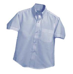 Cristo Rey Ladies Oxford - Short Sleeve - Lt. Blue