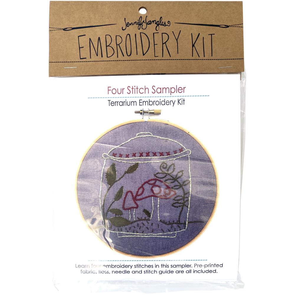 Four Stitch Sampler Embroidery Kit
