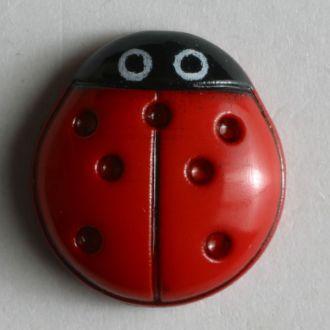 Button Ladybird (bug) 11mm