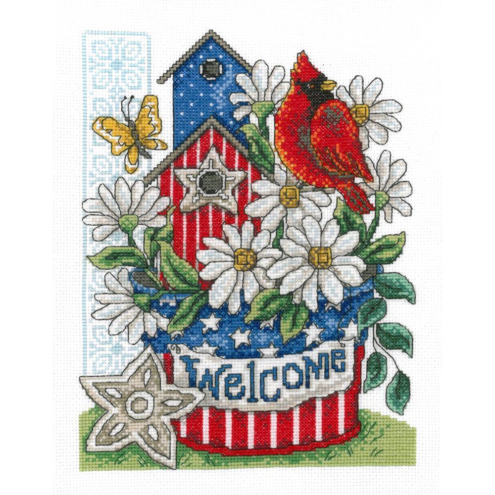 Patriotic Welcome 7.5x10 14ct