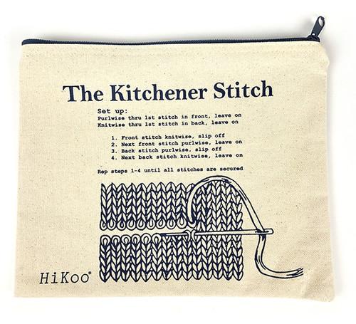 Kitchener Stitch Zip Pouch