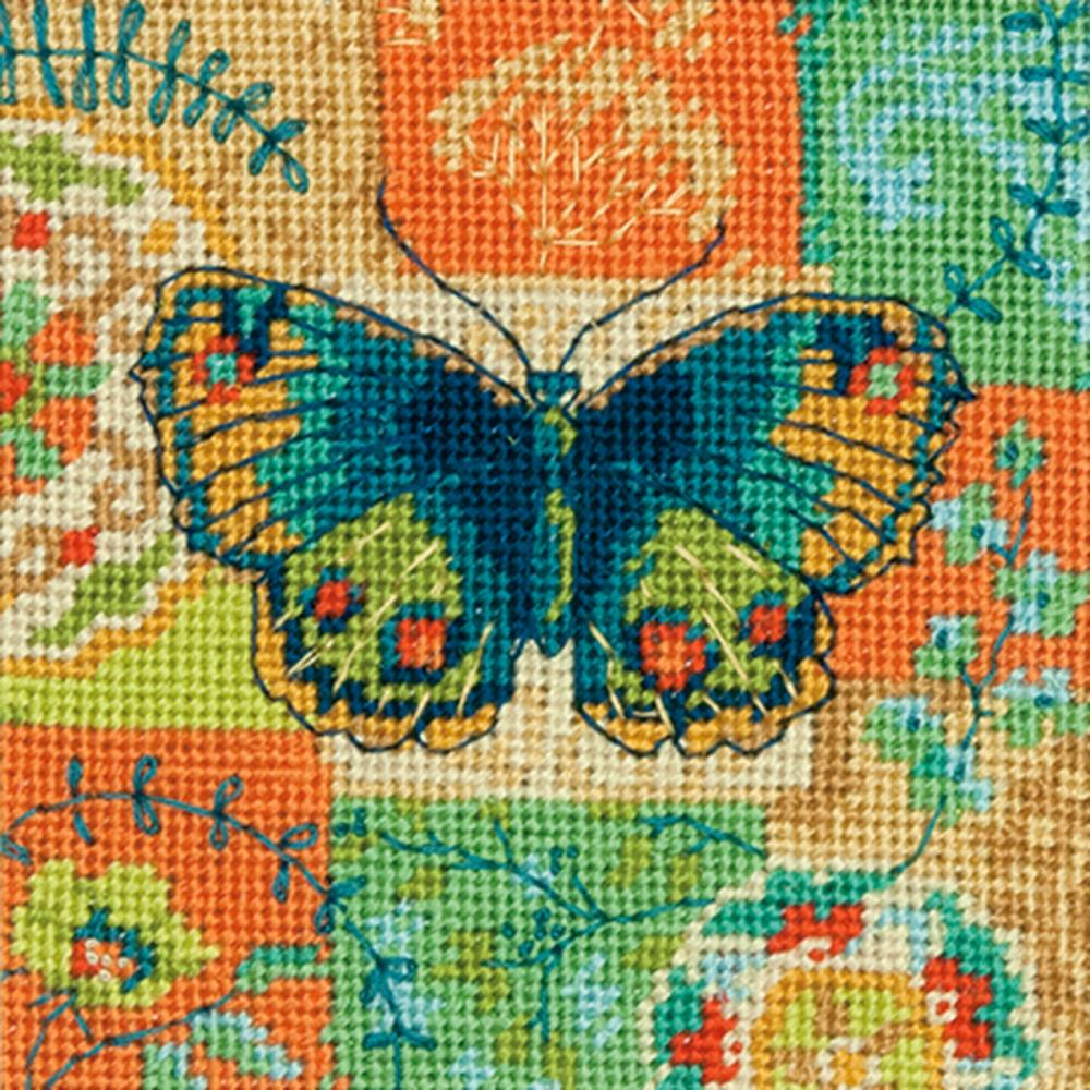 Dimensions Needlepoint 5x5in Butterfly Pattern