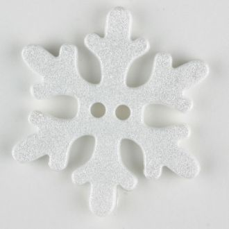 Buttons snowflake 20mm