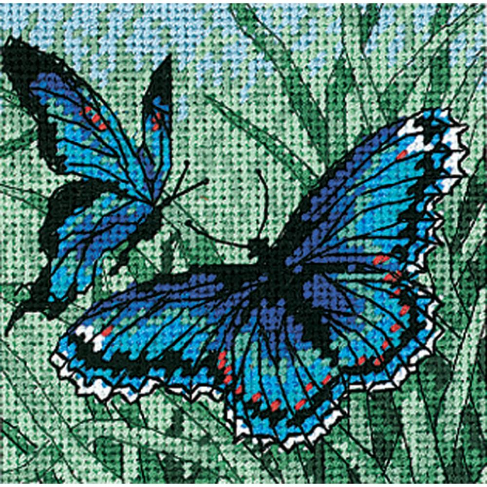 Dimensions Needlepoint 5x5in Butterfly Duo