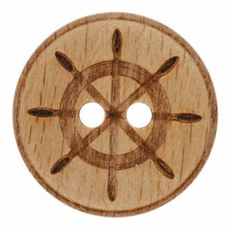Button Wood naut 23mm