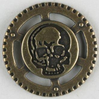 Button Steampunk skull 23mm