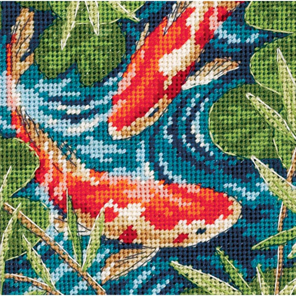 Dimensions Needlepoint 5x5in Koi Pond