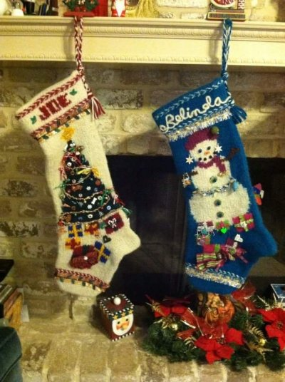 Christmas Stockings on a mantel