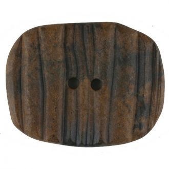 Button Wood Oval 28mm