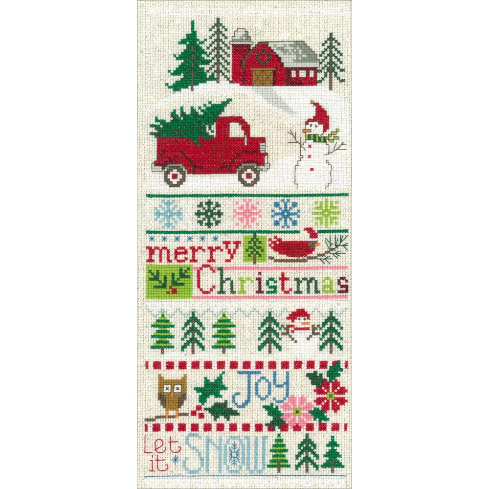 Merry Christmas Sampler 5.5x13 14ct