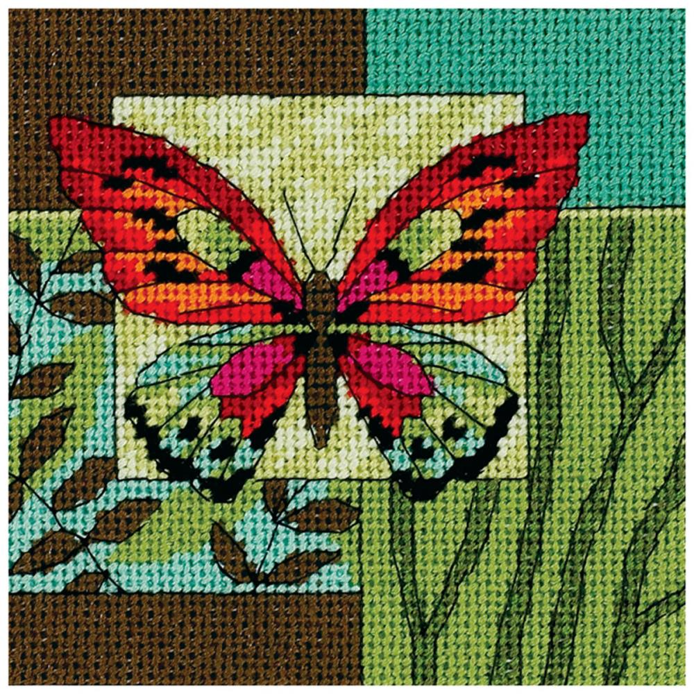 Dimensions Needlepoint 5x5in Butterfly Impression