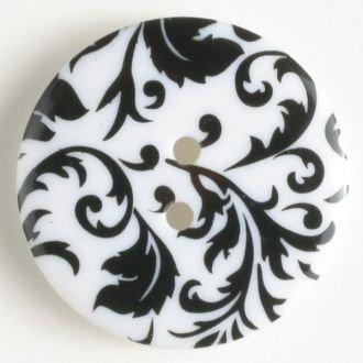 Button Floral 25mm various