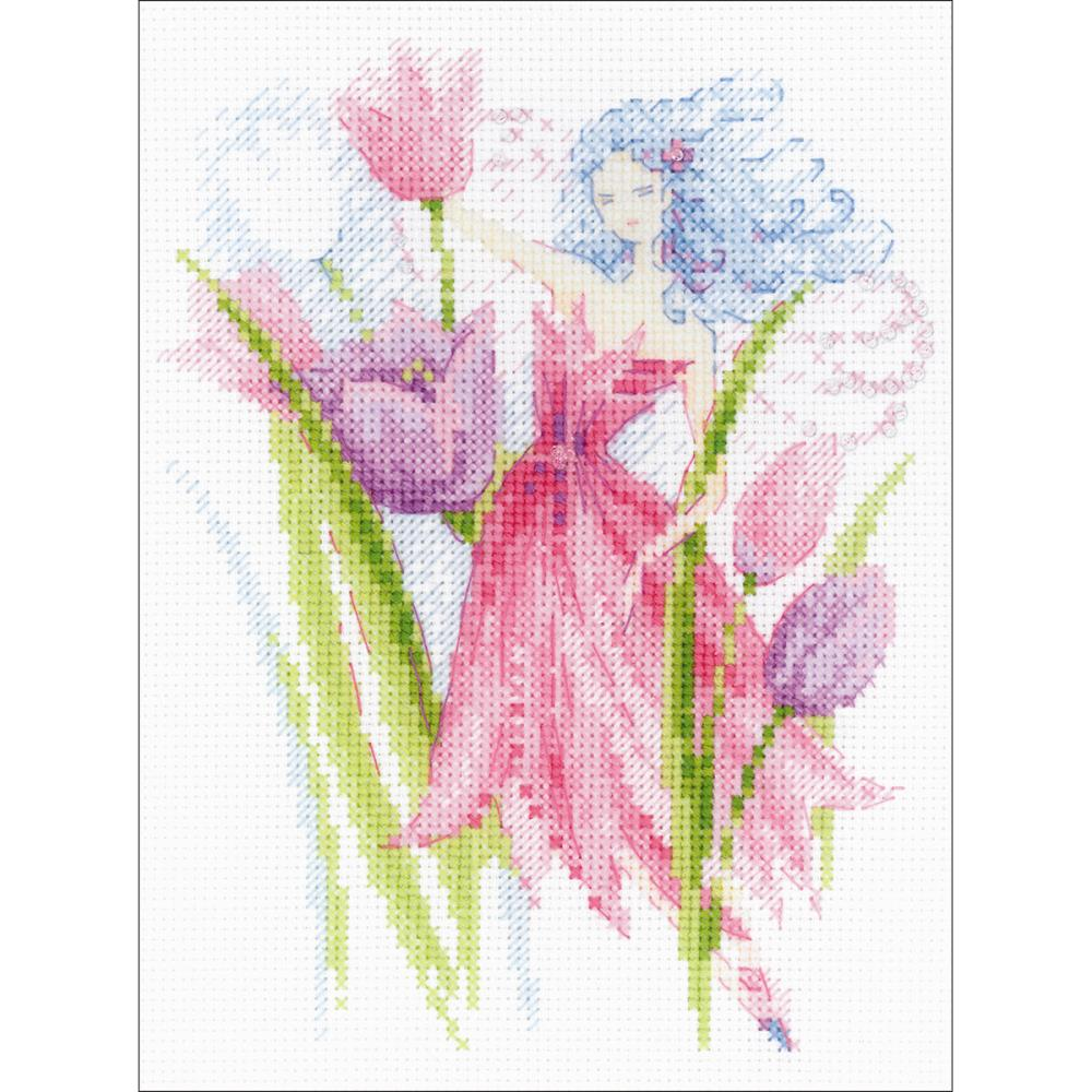 Spring Breeze Fairy 6x7.75 14ct