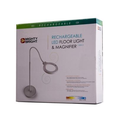 MB Floor Light & Magnifier Recharg LED
