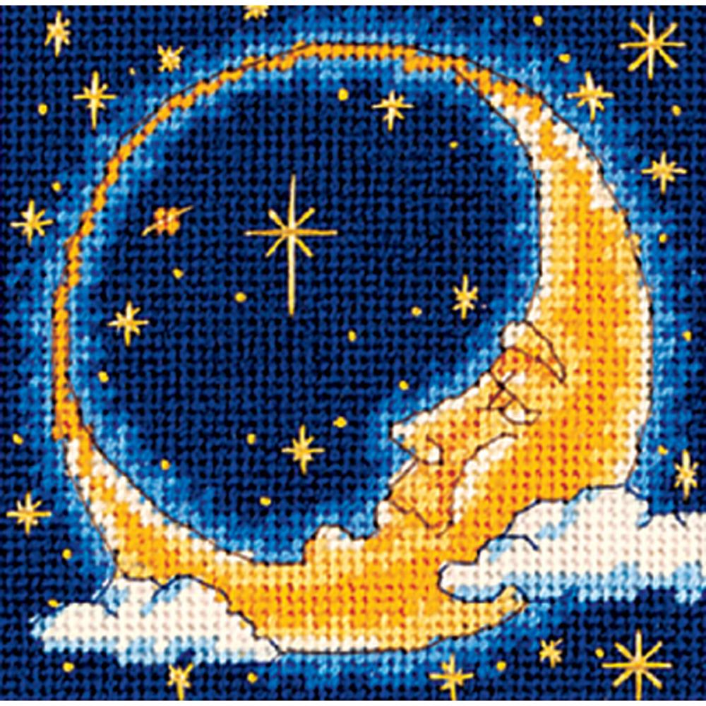 Dimensions Needlepoint 5x5in Moon Dreamer