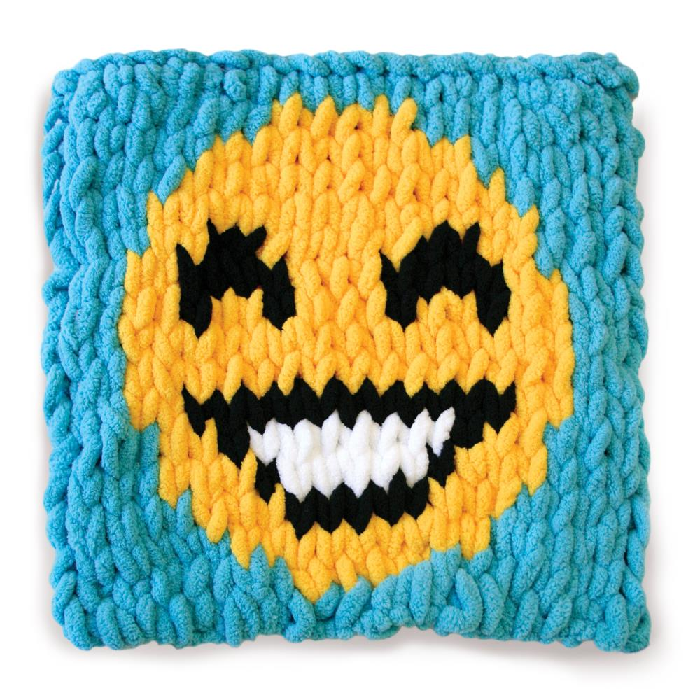 Knitted Magic Yarn Happy Face