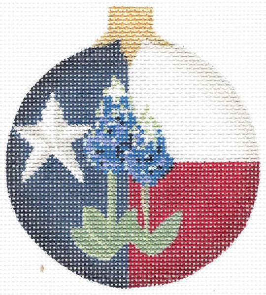 KCN Taste of Texas Ornament Round