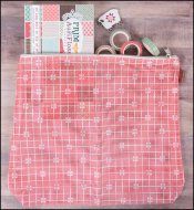 It's Sew Emma Mesh Project Bag Prim Red Check