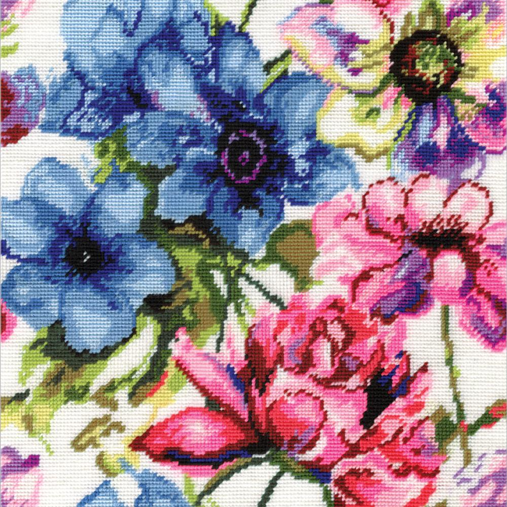 Needlepoint Watercolor Floral