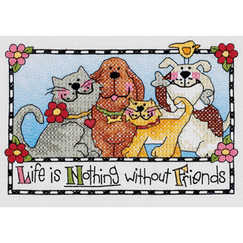 Life is Nothing Without Friends 7x5