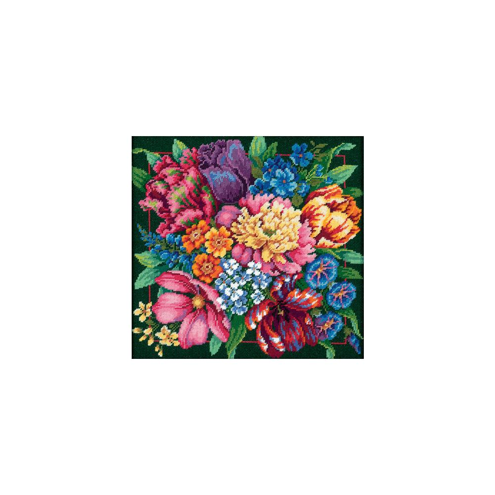 Dimensions Needlepoint 14x14in Floral Blooms