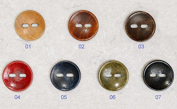 Button Round Foxeye 1.375in