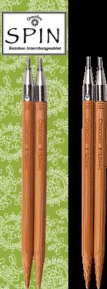IC Tips ChiaoGoo Spin Bamboo 5in